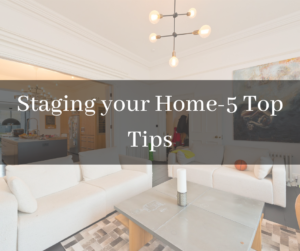 Staging your home fo sale-5 top tips title page