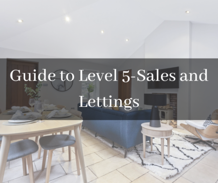title page, Guide to Level 5, living room area of a luxurious house in the background